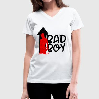 Gift Bad Boy Bad Boy - Women's V-Neck T-Shirt