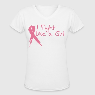 Pink Ribbon - Women's V-Neck T-Shirt