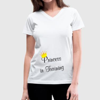 I love being a Princess  - Women's V-Neck T-Shirt