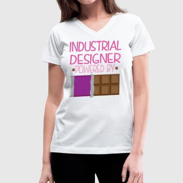Industrial Designer Funny Chocolate - Women's V-Neck T-Shirt