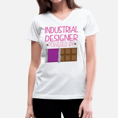 Candy Bar Industrial Designer Funny Chocolate - Women's V-Neck T-Shirt