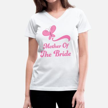 Mother of the Bride (Wedding Butterfly) - Women's V-Neck T-Shirt