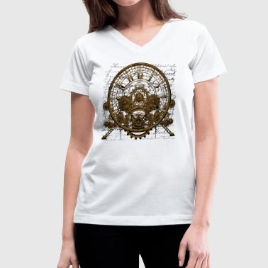 Steampunk Time Machine #1A Steampunk T-shirt - Women's V-Neck T-Shirt