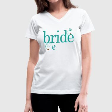 Bride Wedding Party Gift - Women's V-Neck T-Shirt