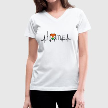 I Love Niger i love home Niger - Women's V-Neck T-Shirt