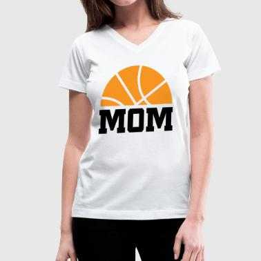 Basketball Mom - Women's V-Neck T-Shirt