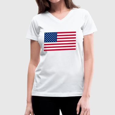 USA Amerika - Women's V-Neck T-Shirt