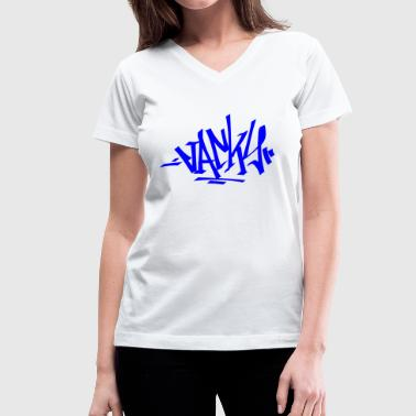 Street Calligraphy jacky - Women's V-Neck T-Shirt