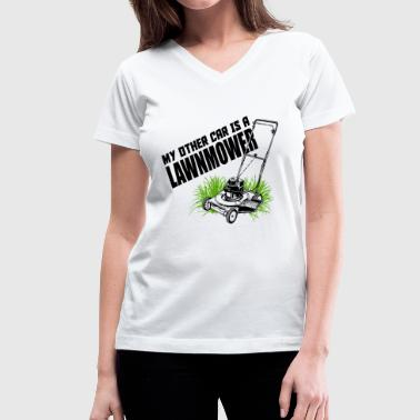 LAWNMOWER - MY OTHER CAR IS A LAWNMOWER - Women's V-Neck T-Shirt