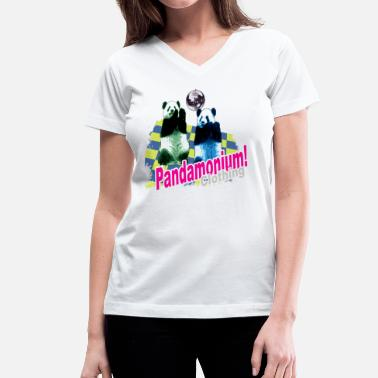 Pandamonium pandamonium - Women's V-Neck T-Shirt