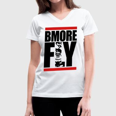 BMORE FLY Vneck - Women's V-Neck T-Shirt