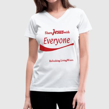 Jesus! - Women's V-Neck T-Shirt
