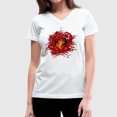 supernova heart - Women's V-Neck T-Shirt