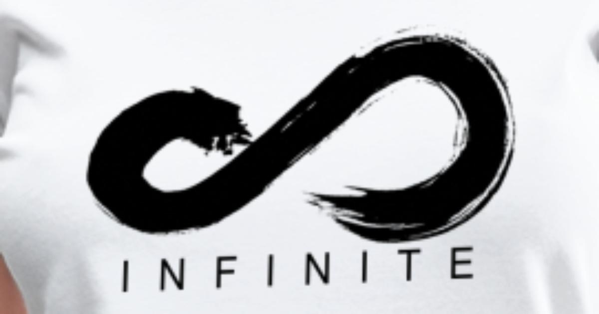 Infinite Logo in Black Women's V-Neck Women's V-Neck T-Shirt | Spreadshirt