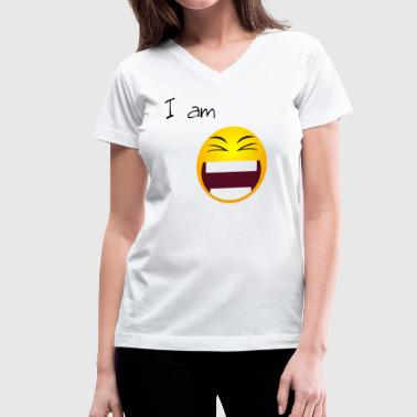laugh - Women's V-Neck T-Shirt