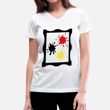 Painting Art Art painting - Women's V-Neck T-Shirt