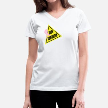 acd1328c Women's 50/50 T-Shirt. Funny. from $23.49 · Mastectomy Funny Under  Construction - Women's V-Neck ...