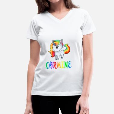 Carmine Carmine Unicorn - Women's V-Neck T-Shirt