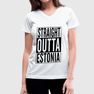 Estonia - Women's V-Neck T-Shirt