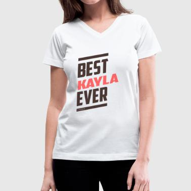 KAYLA - Women's V-Neck T-Shirt