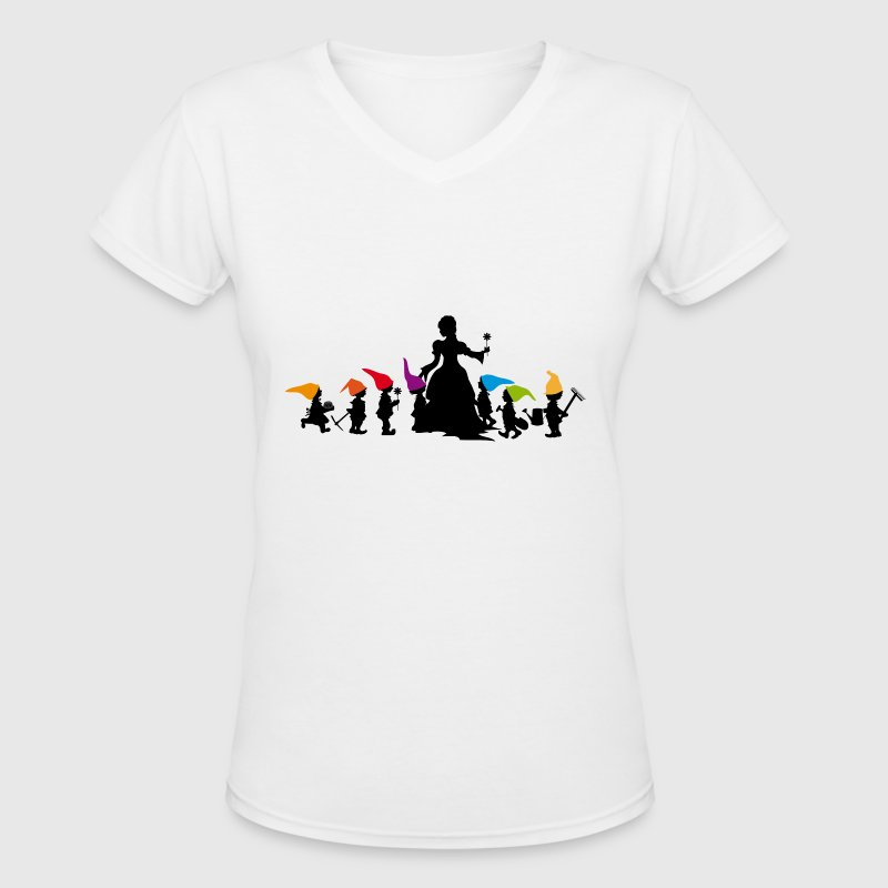 Snow White and the Seven Dwarfs  - Women's V-Neck T-Shirt