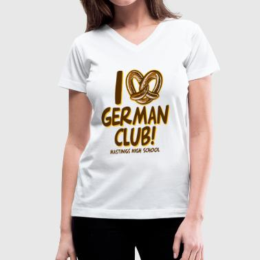 High German GERMAN CLUB HASTINGS HIGH SCHOOL - Women's V-Neck T-Shirt