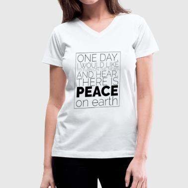 Peace on earth - Women's V-Neck T-Shirt