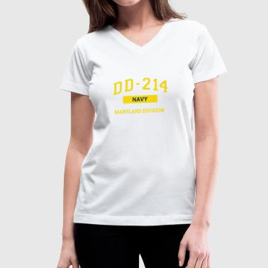 Dd214 Apparel Navy Veteran Shirt DD214 Maryland TShirt - Women's V-Neck T-Shirt