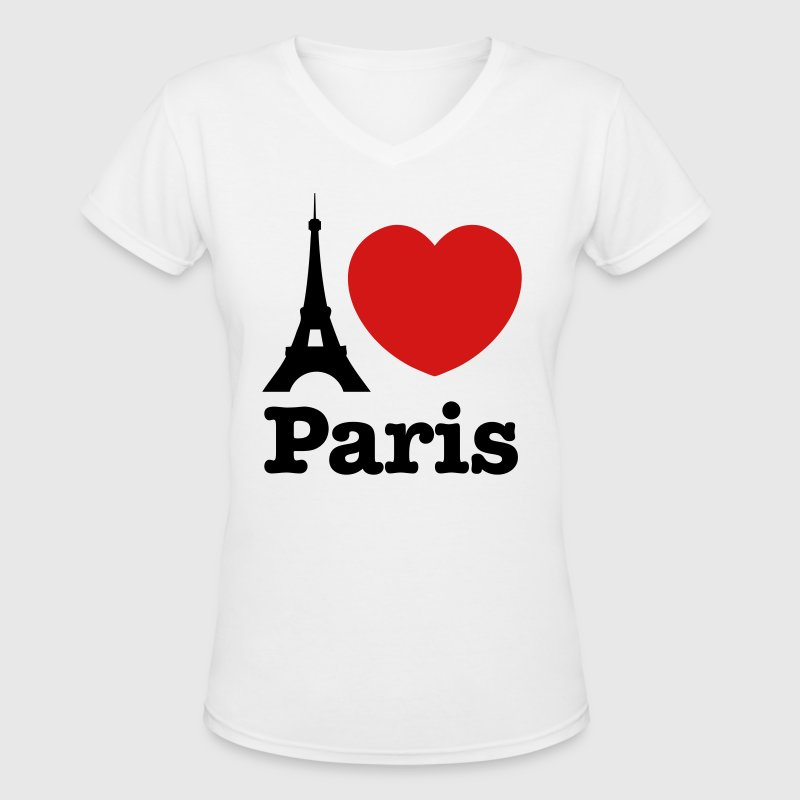 I Love Paris - Women's V-Neck T-Shirt