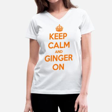 Ron Weasley Keep Calm and Ginger On - Women's V-Neck T-Shirt