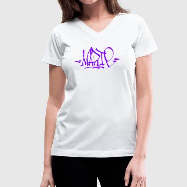 Street Calligraphy Marie - Women's V-Neck T-Shirt