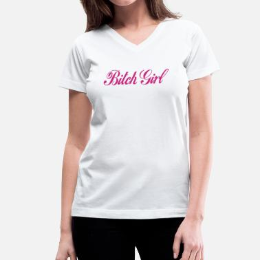 Bitch Surf bitch girl - Women's V-Neck T-Shirt