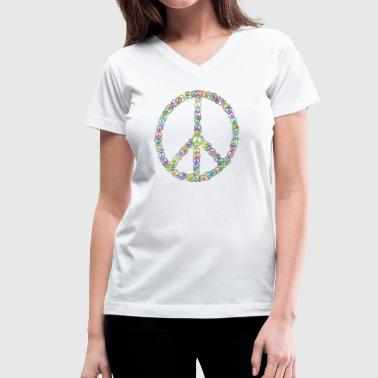 Peace Sign of Peace Signs - Women's V-Neck T-Shirt