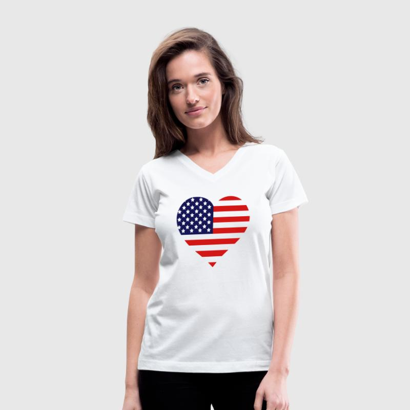 American Heart (HQ) - Women's V-Neck T-Shirt