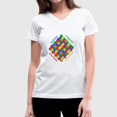 Autism Support - Women's V-Neck T-Shirt
