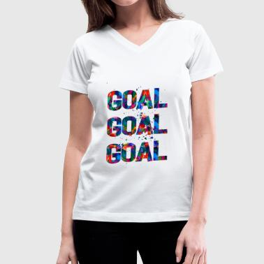 Goal Goal Goal - Women's V-Neck T-Shirt
