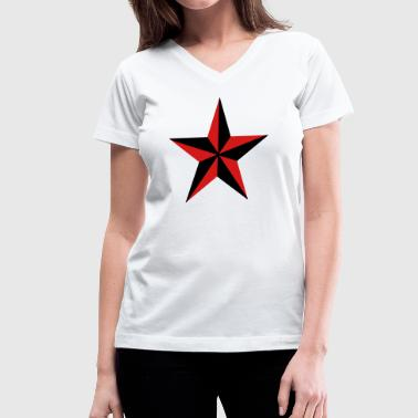 Nautical Star - Women's V-Neck T-Shirt