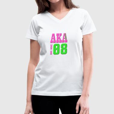 AKA 1908 - Women's V-Neck T-Shirt
