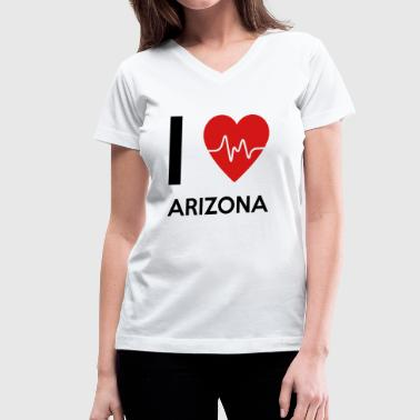 I Love Arizona - Women's V-Neck T-Shirt