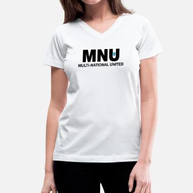 Destrict MNU - Women's V-Neck T-Shirt