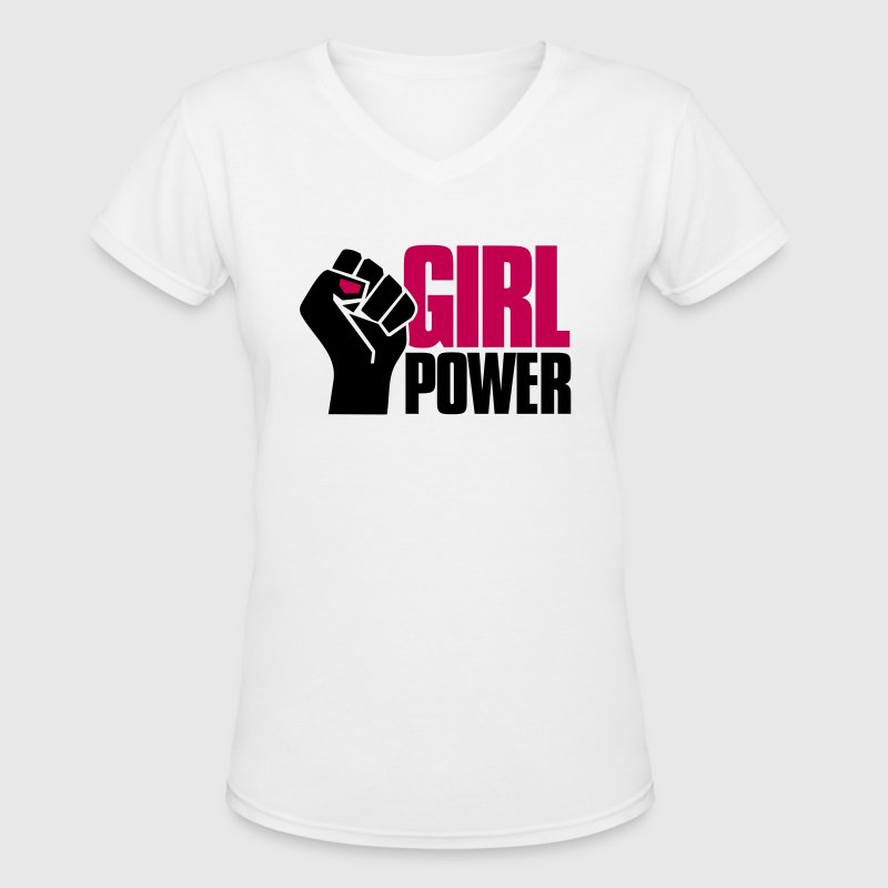 Girl Power - Women's V-Neck T-Shirt