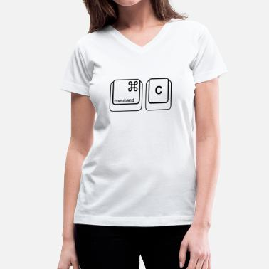 Command C - Women's V-Neck T-Shirt