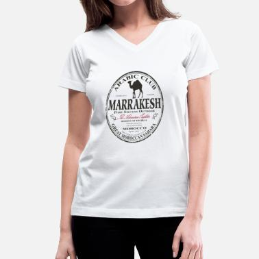 Marrakech Camel  - Africa - Safari - Women's V-Neck T-Shirt