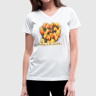 tulips - Women's V-Neck T-Shirt