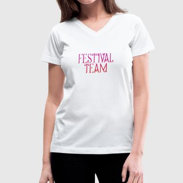 FESTIVAL - Women's V-Neck T-Shirt