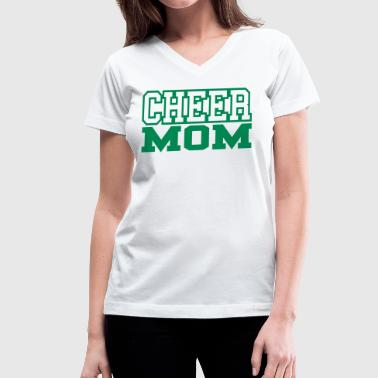 Cheer Mom Bling Cheer Mom - Women's V-Neck T-Shirt