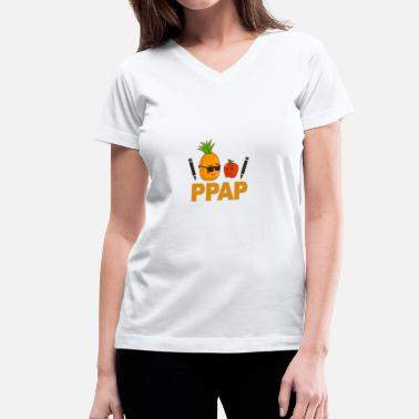Pen Pen Pineapple Apple Pen - Women's V-Neck T-Shirt