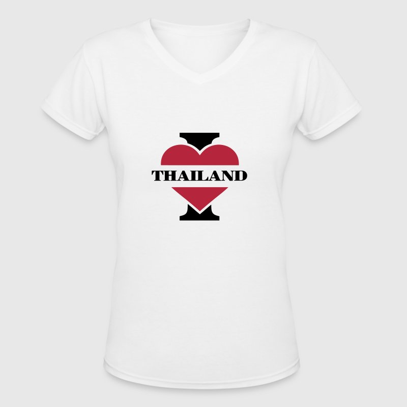 I love Thailand - Women's V-Neck T-Shirt