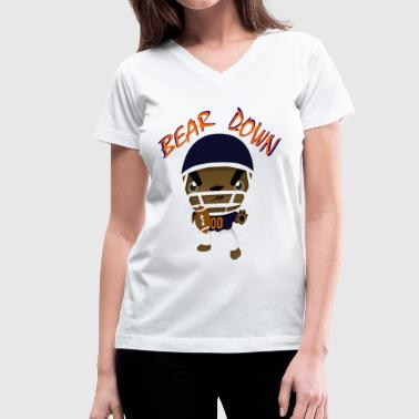Bear Down! (CHICAGO BEARS) T-Shirts - Women's V-Neck T-Shirt