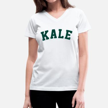 Kale University Kale University Vegan - Women's V-Neck T-Shirt